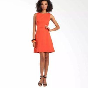 Trina Turk Dresses - CLEARANCE Trina Turk Orange Ponte Dress Lace Hem M